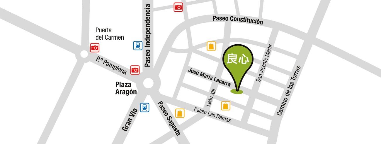Mapa Liang Xin Zaragoza